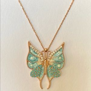 Jewelry - 🦋925 Silver turquoise blue butterfly necklace
